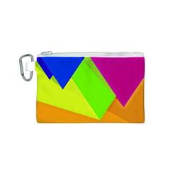 Geo Fun 15 Canvas Cosmetic Bag (S)