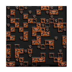 Brown Pieces Tile Coaster