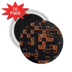 Brown Pieces 2 25  Magnet (10 Pack)