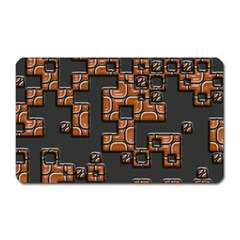 Brown pieces Magnet (Rectangular)