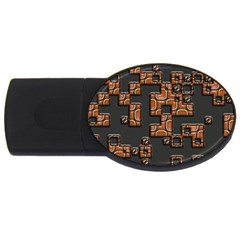 Brown pieces USB Flash Drive Oval (1 GB)