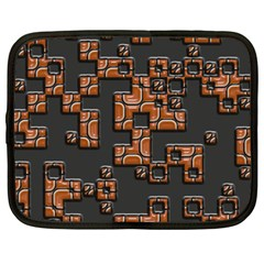 Brown pieces Netbook Case (Large)