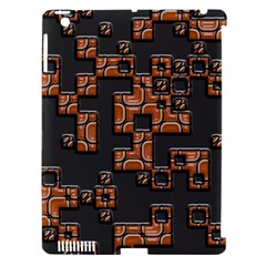Brown pieces Apple iPad 3/4 Hardshell Case (Compatible with Smart Cover)
