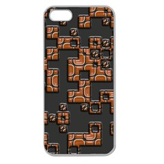 Brown pieces Apple Seamless iPhone 5 Case (Clear)