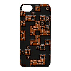 Brown pieces Apple iPhone 5S Hardshell Case