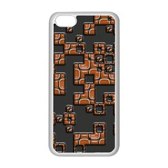 Brown pieces Apple iPhone 5C Seamless Case (White)