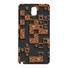 Brown Pieces Samsung Galaxy Note 3 N9005 Hardshell Back Case