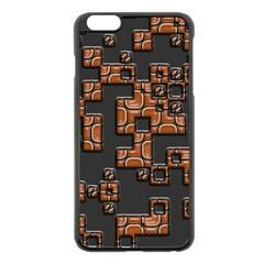 Brown pieces Apple iPhone 6 Plus Black Enamel Case