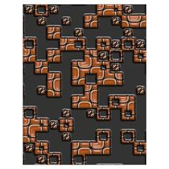 Brown pieces Large Drawstring Bag