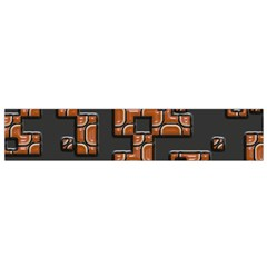 Brown pieces Flano Scarf