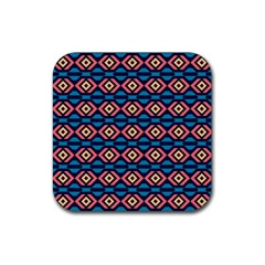 Rhombus  pattern Rubber Coaster (Square)