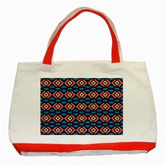 Rhombus  pattern Classic Tote Bag (Red)