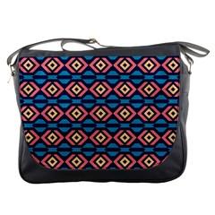 Rhombus  pattern Messenger Bag