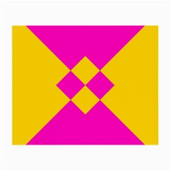 Yellow Pink Shapes Small Glasses Cloth