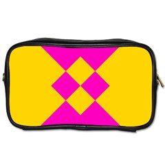 Yellow pink shapes Toiletries Bag (One Side)