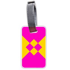 Yellow pink shapes Luggage Tag (two sides)