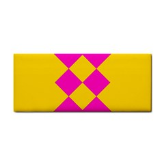 Yellow Pink Shapes Hand Towel