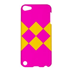 Yellow pink shapes Apple iPod Touch 5 Hardshell Case