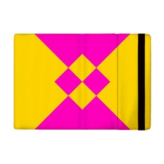 Yellow pink shapes Apple iPad Mini Flip Case