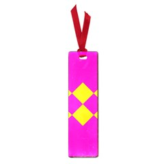 Yellow pink shapes Small Book Mark