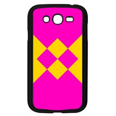 Yellow pink shapes Samsung Galaxy Grand DUOS I9082 Case (Black)