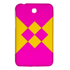 Yellow pink shapes Samsung Galaxy Tab 3 (7 ) P3200 Hardshell Case