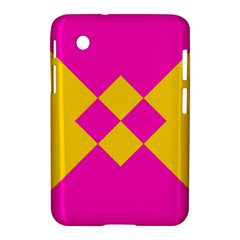 Yellow pink shapes Samsung Galaxy Tab 2 (7 ) P3100 Hardshell Case