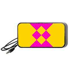 Yellow Pink Shapes Portable Speaker