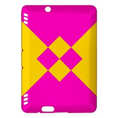 Yellow pink shapes	Kindle Fire HDX Hardshell Case
