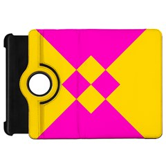Yellow pink shapes	Kindle Fire HD Flip 360 Case