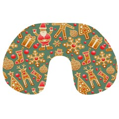 Santa and Friends Pattern Travel Neck Pillows