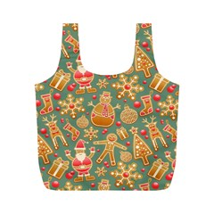 Santa and Friends Pattern Full Print Recycle Bags (M)