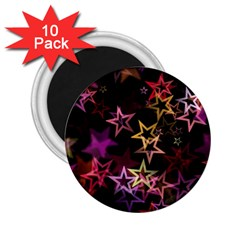Sparkly Stars Pattern 2.25  Magnets (10 pack)