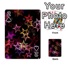 Sparkly Stars Pattern Playing Cards 54 Designs