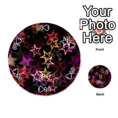 Sparkly Stars Pattern Playing Cards 54 (Round)