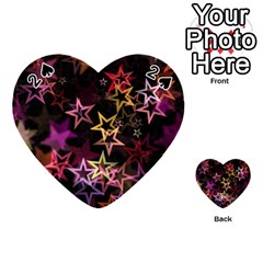 Sparkly Stars Pattern Playing Cards 54 (heart)