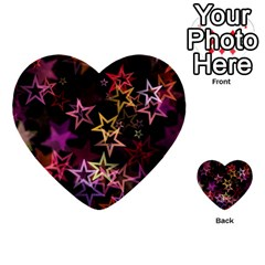 Sparkly Stars Pattern Multi-purpose Cards (Heart)
