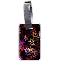 Sparkly Stars Pattern Luggage Tags (One Side)