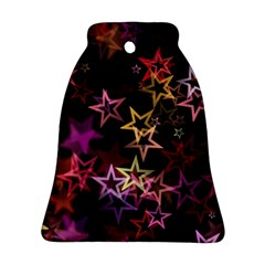 Sparkly Stars Pattern Ornament (bell)