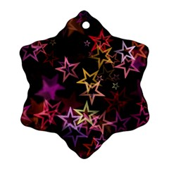 Sparkly Stars Pattern Snowflake Ornament (2-Side)
