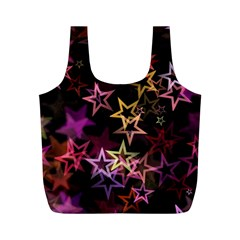 Sparkly Stars Pattern Full Print Recycle Bags (M)