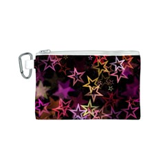 Sparkly Stars Pattern Canvas Cosmetic Bag (S)