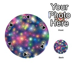 Sparkling Lights Pattern Playing Cards 54 (round)
