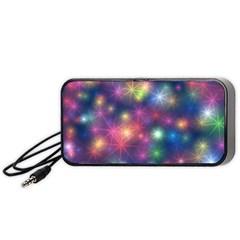 Sparkling Lights Pattern Portable Speaker (black)
