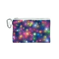Sparkling Lights Pattern Canvas Cosmetic Bag (S)