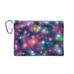 Sparkling Lights Pattern Canvas Cosmetic Bag (m)