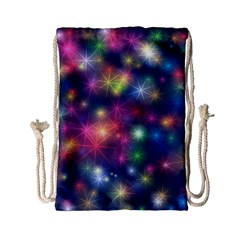 Sparkling Lights Pattern Drawstring Bag (small)