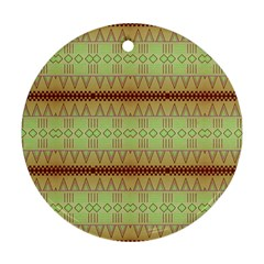 Aztec pattern Round Ornament (Two Sides)