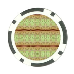 Aztec pattern Poker Chip Card Guard