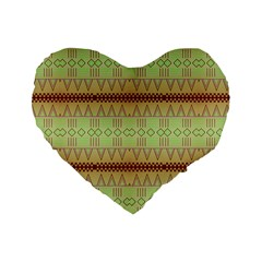 Aztec pattern Standard 16  Premium Heart Shape Cushion